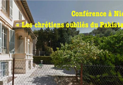 Conférence à Nice : « Les chrétiens oubliés du Pakistan »