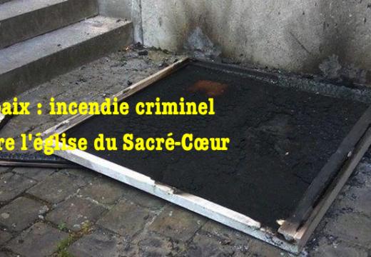 Nord : incendie criminel contre une église de Roubaix