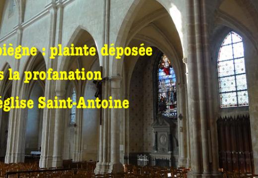 Profanation d'une église à Compiègne : plainte déposée par l'affectataire
