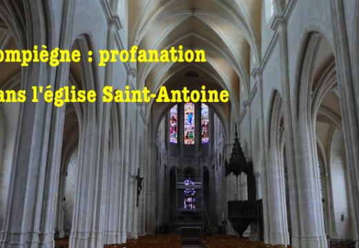 Oise : église profanée à Compiègne