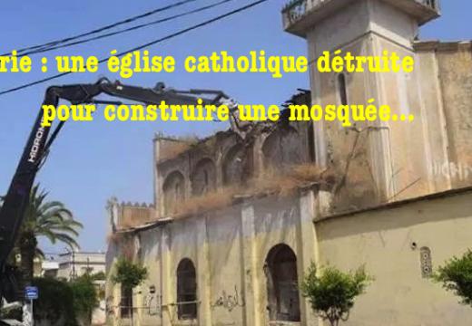 Algérie : une église catholique détruite à Sidi Moussa pour laisser la place à une mosquée