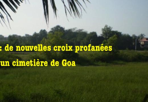 Inde : des croix d'un cimetière de nouveau profanées à Goa