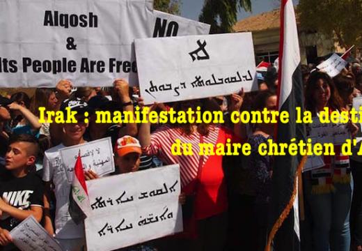 Alqosh : des centaines d'habitants manifestent contre la destitution du maire chrétien