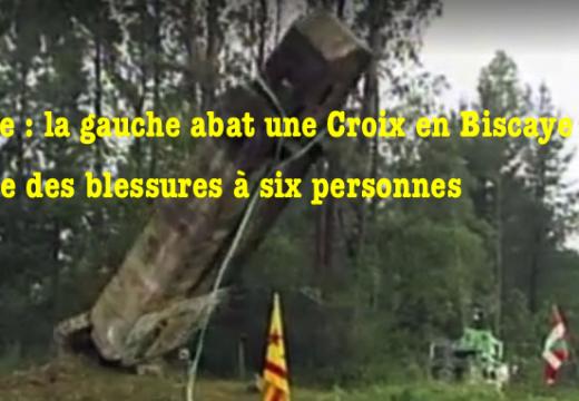 Espagne : une croix abattue cause six blessés…
