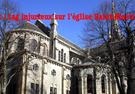 Brest : tag injurieux sur l'église Saint-Martin