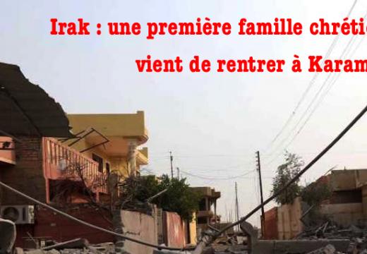Irak : une famille chrétienne rentre à Karamlech