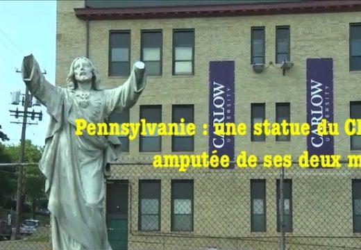 Pennsylvanie : statue de Jésus amputée de ses mains à Pittsburgh