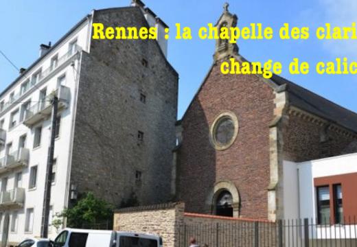 Rennes : la chapelle des Clarisses change de calicot…