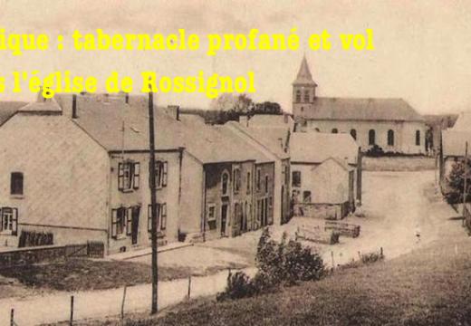 Belgique : tabernacle profané dans l'église de Rossignol