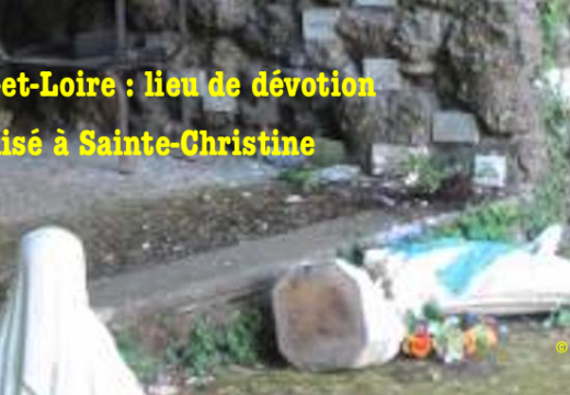 Maine-et-Loire : un lieu de dévotion vandalisé à Sainte-Christine