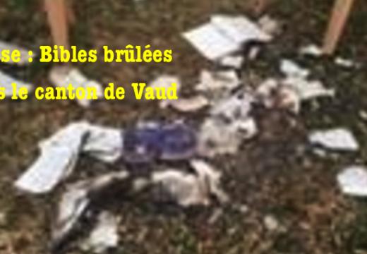Suisse : des Bibles brûlées à Lonay