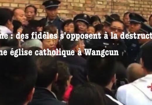 Chine : une église catholique en cours de destruction dans le Shanxi