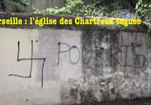 Marseille : l'église des Chartreux taguée