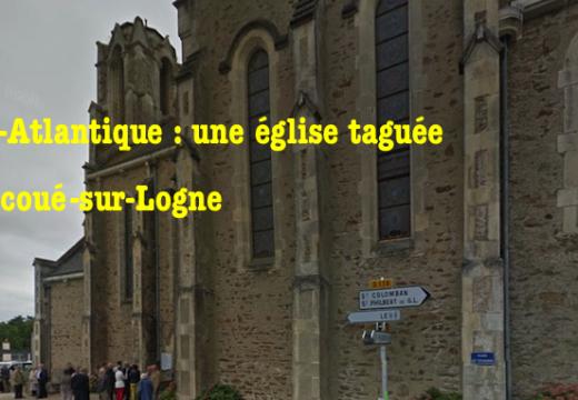 Corcoué-sur-Logne : l'église taguée par des anarchistes