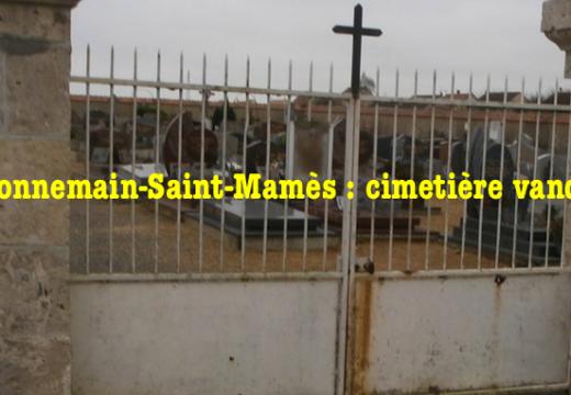 Donnemain-Saint-Mamès : cimetière vandalisé