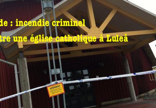 Suède : double incendie dans une église de Luleå