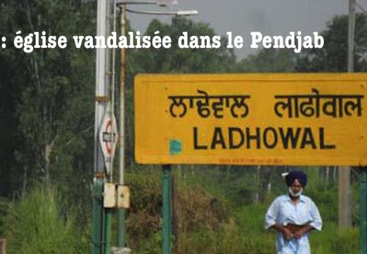 Inde : église vandalisée dans le Pendjab