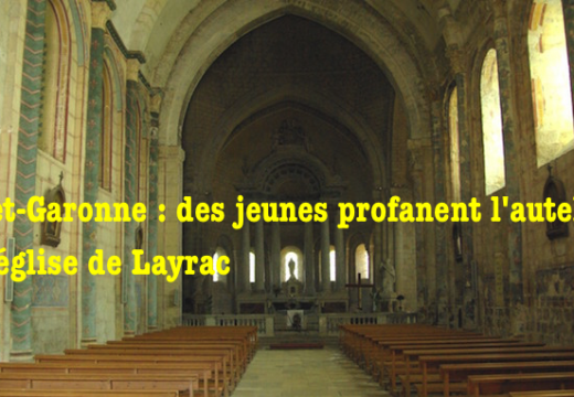Layrac : des jeunes fument la chicha sur l'autel de l'église Saint-Martin