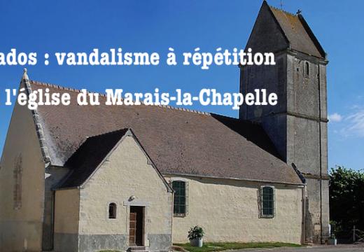 Calvados : église vandalisée au Marais-la-Chapelle