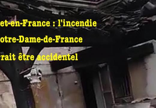 Baillet-en-France : l'incendie pourrait être accidentel…