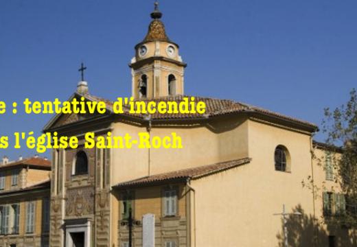 Nice : tentative d'incendie dans l'église Saint Roch
