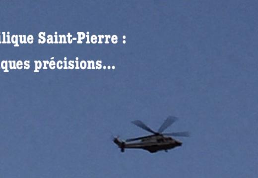Basilique Saint-Pierre : des précisions…
