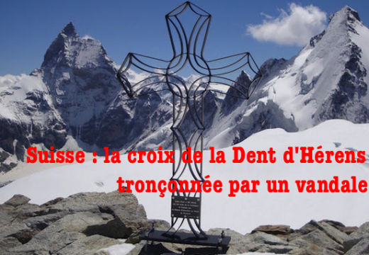 Suisse : la croix de la Dent d'Hérens vandalisée dans le Valais