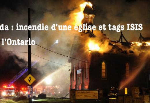 Canada : incendie suspect d'une église dans l'Ontario