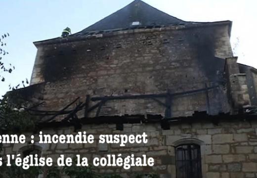 Turenne : incendie suspect dans la collégiale