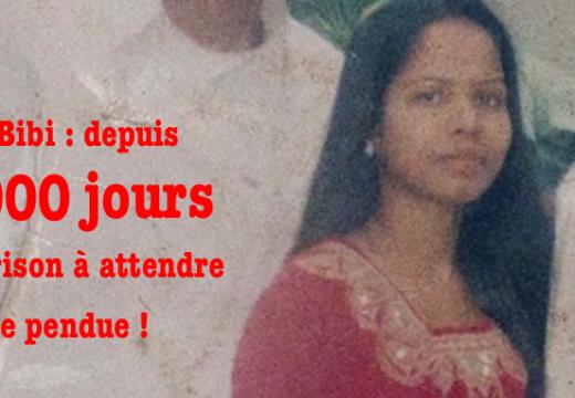 Asia Bibi : 3 000 jours d'incarcération !