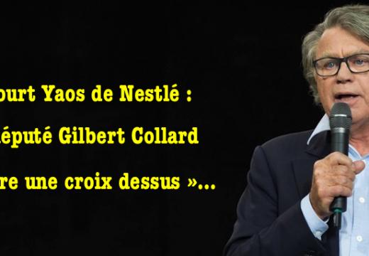 Yaos de Nestlé : le député Gilbert Collard « tire une croix » dessus…