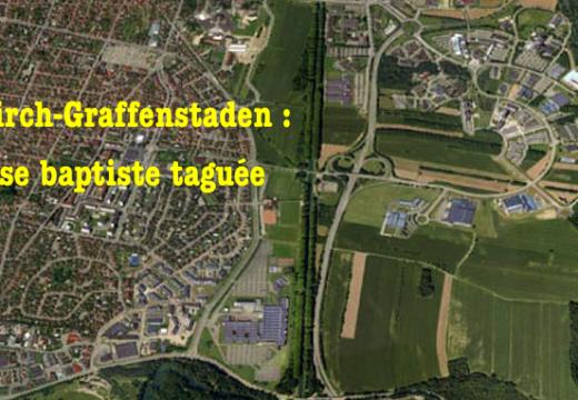 Illkirch-Graffenstaden : église baptiste évangélique taguée