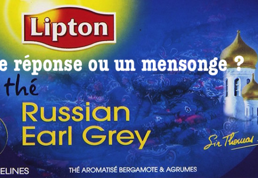 Lipton : une réponse et un mensonge ?