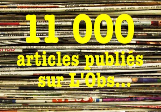 Plus de 11 000 articles déjà mis en ligne !