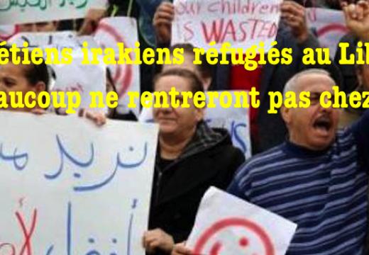 Beyrouth : des réfugiés chrétiens irakiens ne veulent pas rentrer dans leur pays