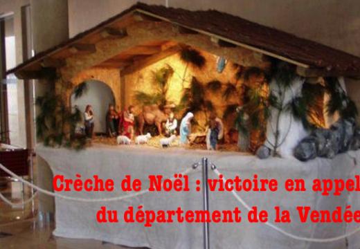 Crèche de Noël : victoire en appel du département de la Vendée