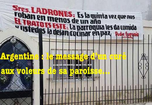 Argentine : le message d'un curé aux voleurs de sa paroisse