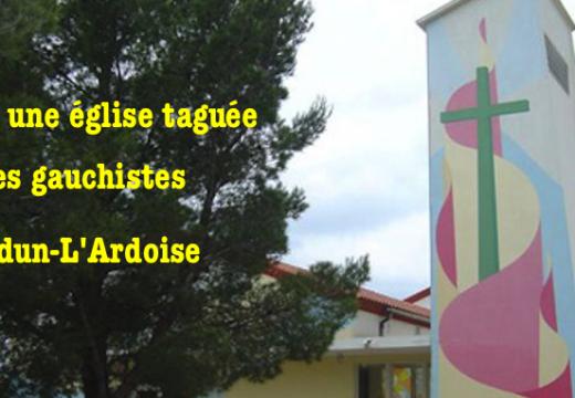 Gard : une église de Laudrun-L'Ardoise taguée par des gauchistes