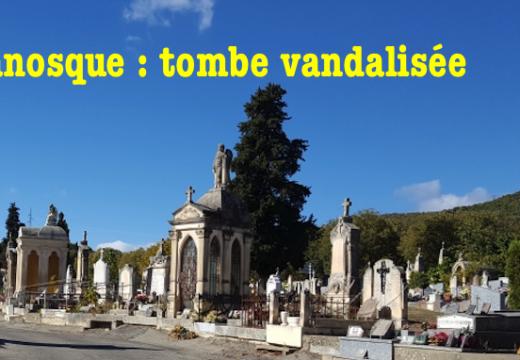 Manosque : tombe vandalisée au cimetière municipal