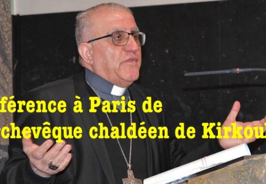 Conférence à Paris de l'archevêque de Kirkouk