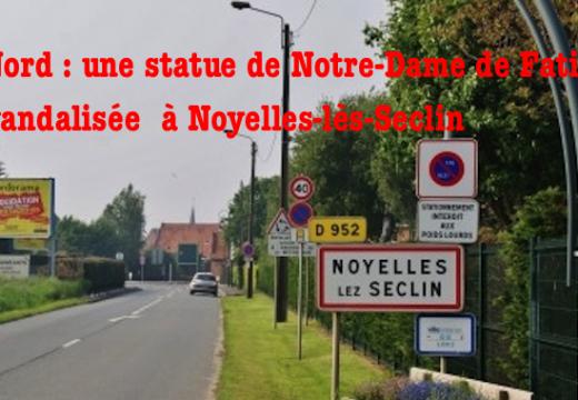 Nord : une statue de la Vierge vandalisée à Noyelles-lès-Seclin