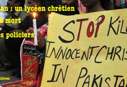Pakistan : un lycéen chrétien battu à mort par six policiers