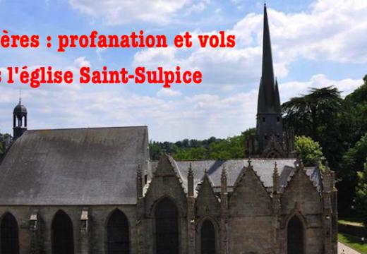 Fougères : profanation et vols dans l'église Saint-Sulpice