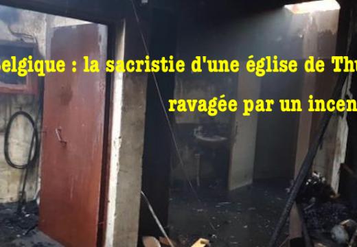 Belgique : incendie dans la sacristie de l'église de Thuin
