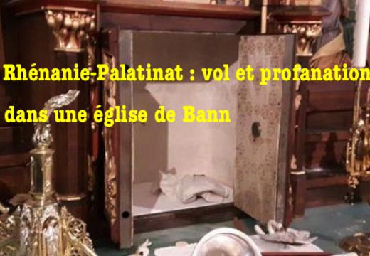 Allemagne : vandalisme, vol et profanation dans une église de Rhénanie-Palatinat
