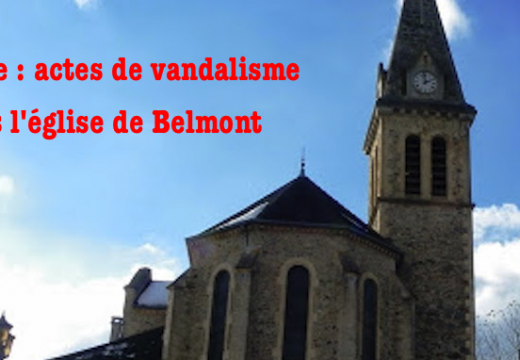 Isère : vandalisme dans l'église de Belmont