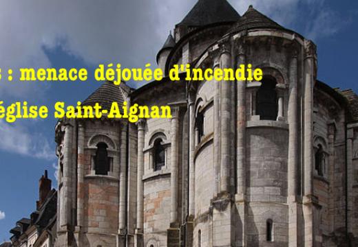 Blois : menace déjouée d'incendie d'une église