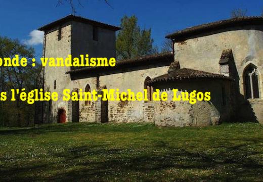Gironde : une église vandalisée à Lugos