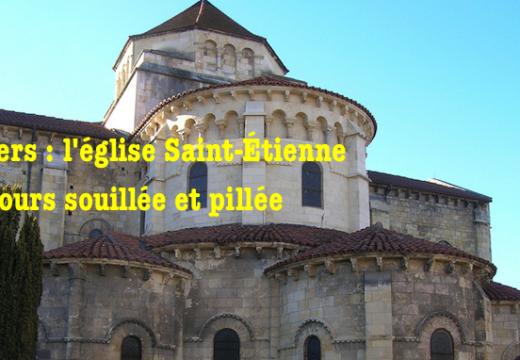 Nevers : l'église Saint Étienne toujours souillée et pillée