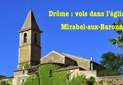 Drôme : vols dans l'église de Mirabel-aux-Baronnies ?